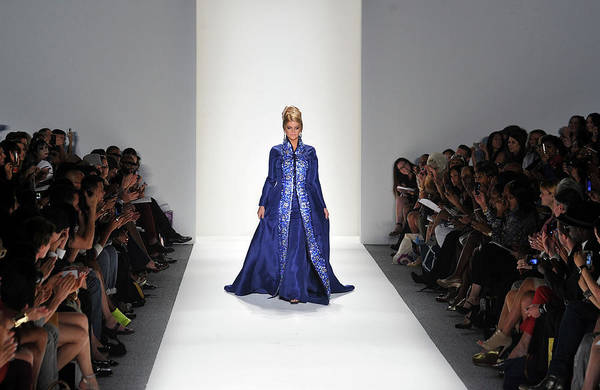 Center Stage Photograph - Zang Toi - Runway - Spring 2012 by Mike Coppola