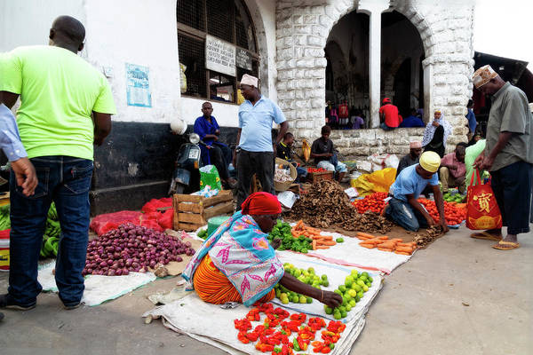 Photograph - Zanzibar Market by Kay Brewer