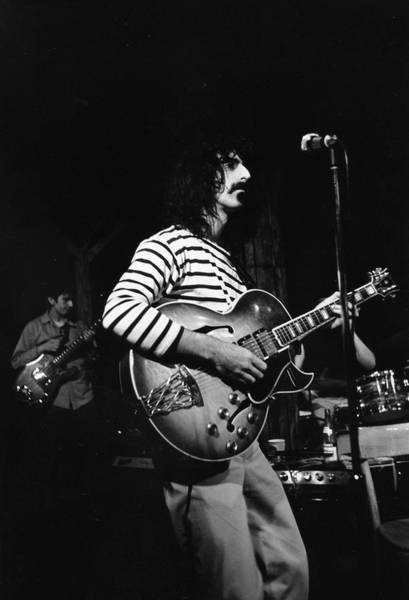 Frank Zappa Wall Art - Photograph - Zappa & The Mothers On Stage by Fred W. McDarrah