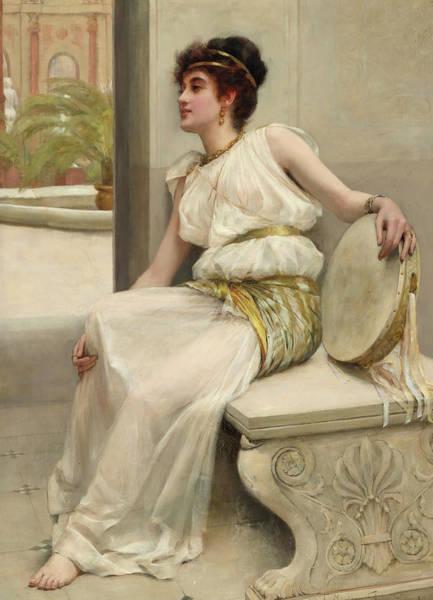 Wall Art - Painting - Zara, A Dancing Girl, 19th Century by Frank Markham Skipworth