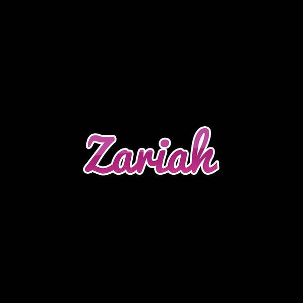 Wall Art - Digital Art - Zariah #zariah by Tinto Designs