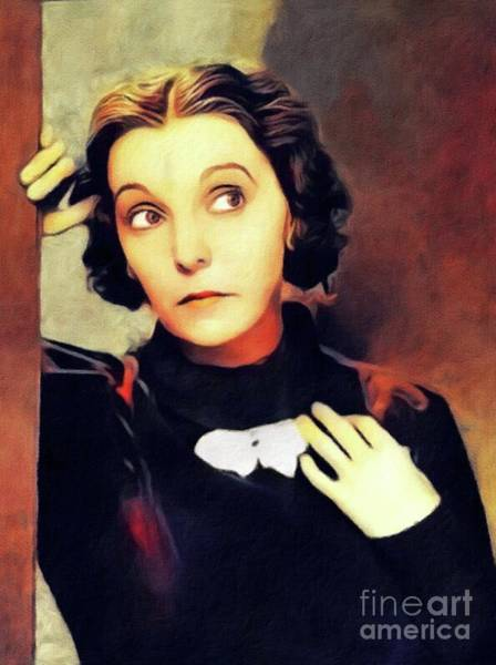 Wall Art - Painting - Zasu Pitts, Vintage Actress by John Springfield