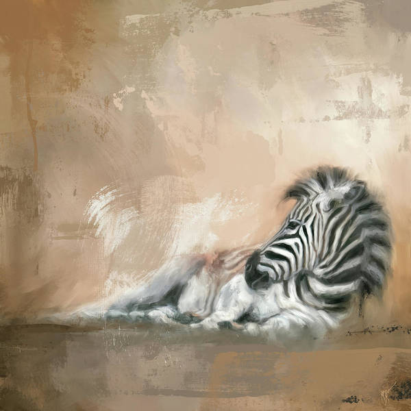 Painting - Zebra At Rest by Jai Johnson