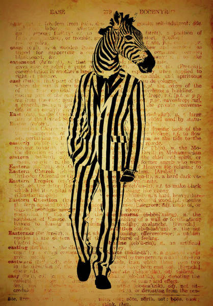 Wall Art - Mixed Media - Zebra Dictionary by Dan Sproul