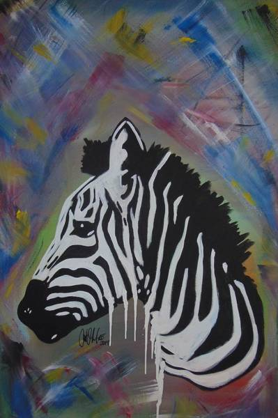 Painting - Zebra Drip by Antonio Moore
