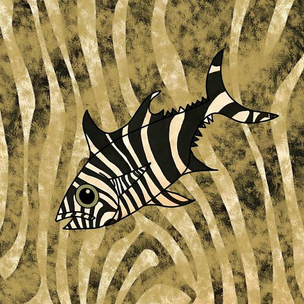 Mixed Media - Zebra Fish 1 by Joan Stratton