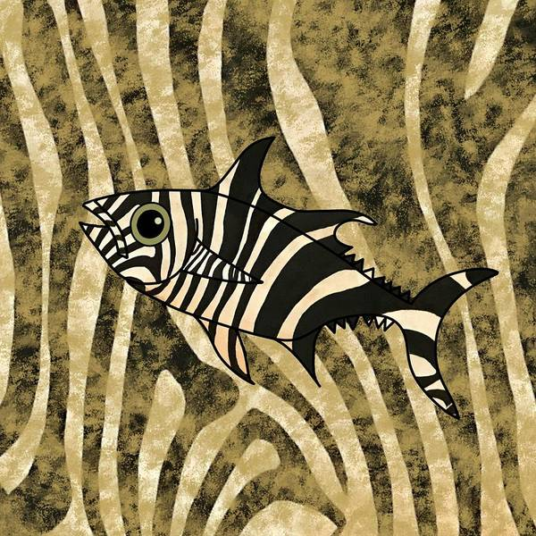 Mixed Media - Zebra Fish 2 by Joan Stratton
