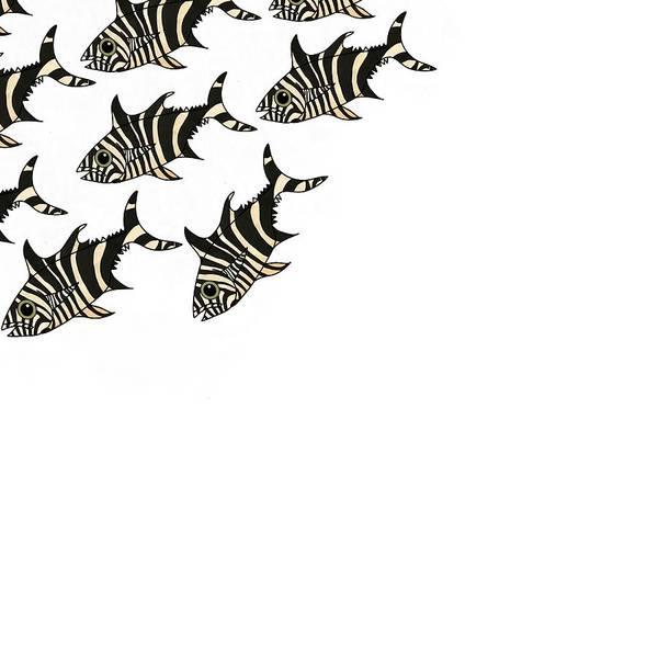 Mixed Media - Zebra Fish 3 Of 4 by Joan Stratton
