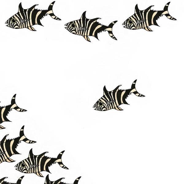 Mixed Media - Zebra Fish 4 Of 4 by Joan Stratton