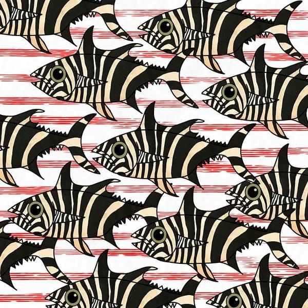 Mixed Media - Zebra Fish 6 by Joan Stratton