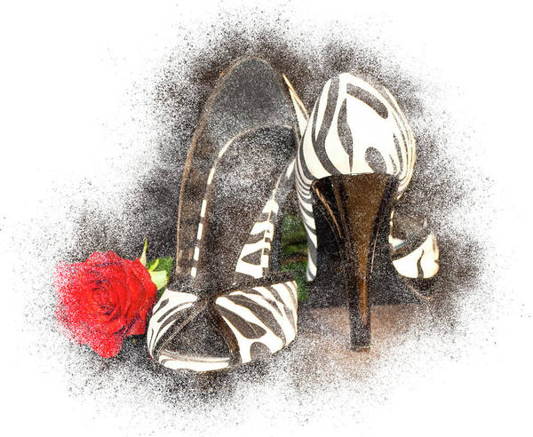 Photograph - Zebra High Heels by Patti Deters