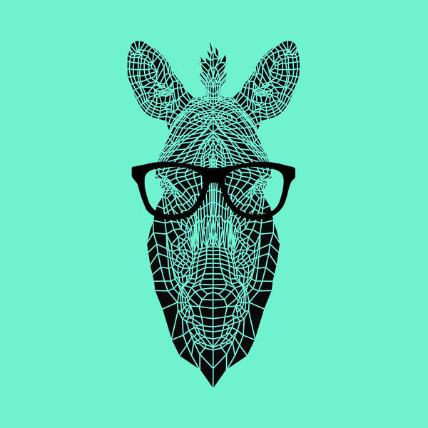 Wall Art - Digital Art - Zebra In Glasses by Naxart Studio