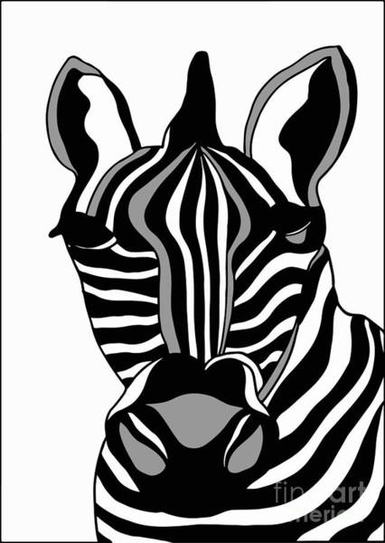 Wall Art - Digital Art - Zebra by Karen Elzinga
