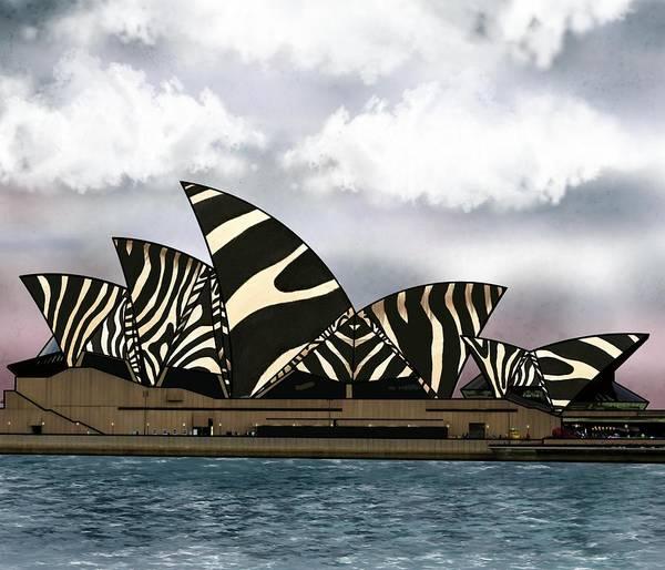 Mixed Media - Zebra Opera House 1 by Joan Stratton