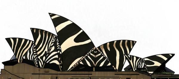 Mixed Media - Zebra Opera House 2 by Joan Stratton