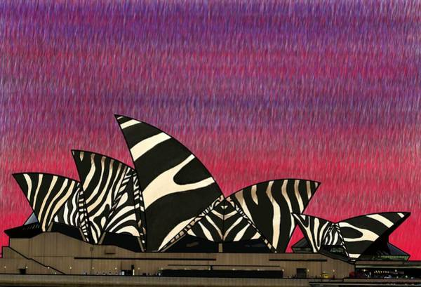 Mixed Media - Zebra Opera House 3 by Joan Stratton