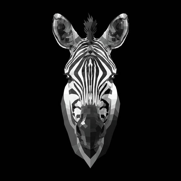 Wall Art - Digital Art - Zebra's Face by Naxart Studio