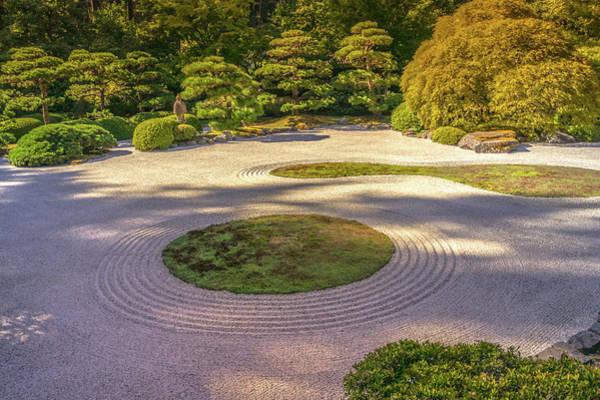 Wall Art - Photograph - Zen Garden In Portland Japanese Garden by Art Spectrum