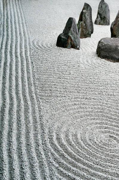 Vertical Garden Photograph - Zen Garden Patterns, Kyoto, Japan by Shanna Baker