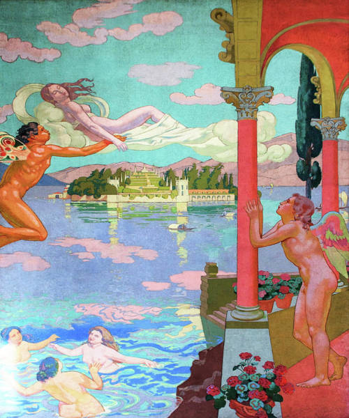 Wall Art - Painting - Zephyr Carries Psyche To The Island Of Bliss - Digital Remastered Edition by Maurice Denis