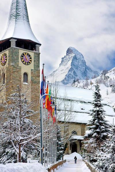 Photograph - Zermatt Church by Brian Jannsen