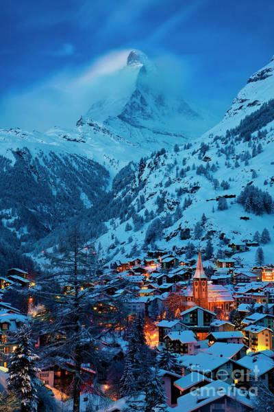 Photograph - Zermatt Twilight by Brian Jannsen