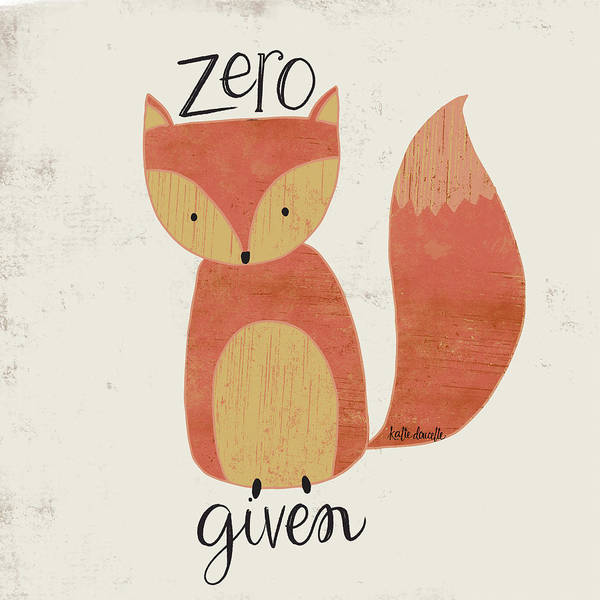 Wall Art - Mixed Media - Zero Fox by Katie Doucette