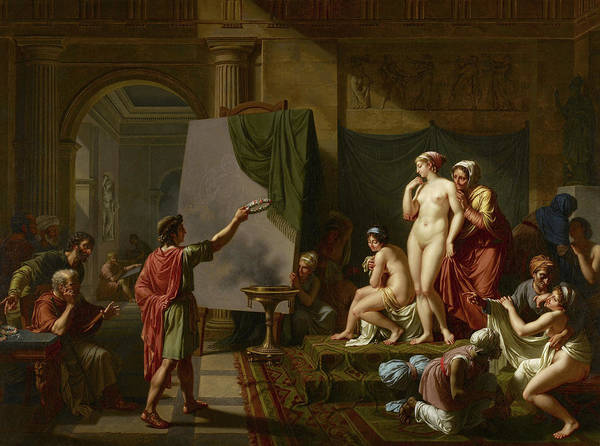 Tits Painting - Zeuxis Choosing His Models, 1797 by Nicolas-Andre Monsiau