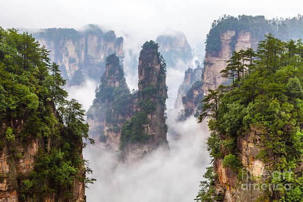 Range Wall Art - Photograph - Zhangjiajie National Park In China by Gil.k