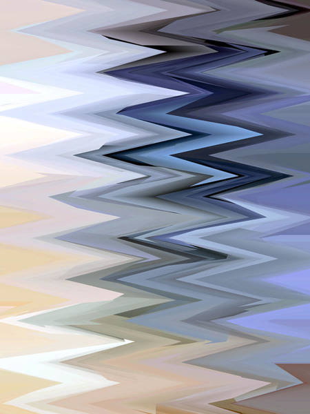 Wall Art - Digital Art - Zig Zag 1 by Chris Butler