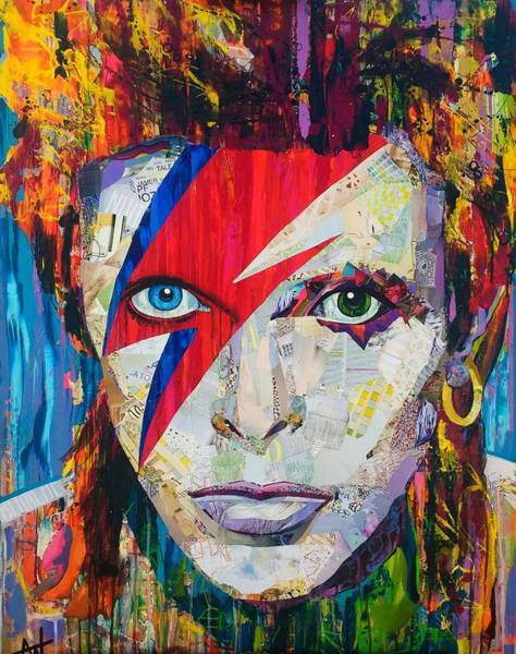 David Bowie Painting - Ziggy Played Guitar by Angie Wright