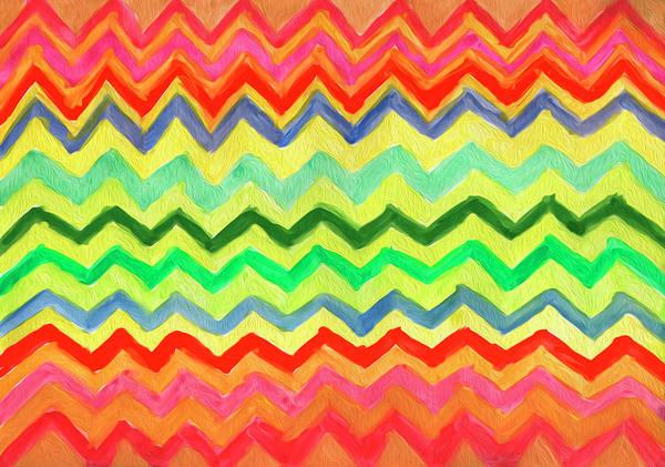 Painting - Zigzag Abstraction by Irina Dobrotsvet