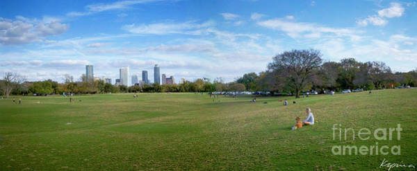 Capable Photograph - Zilker Park, Austin Texas Usa Panoramic by Greg Kopriva
