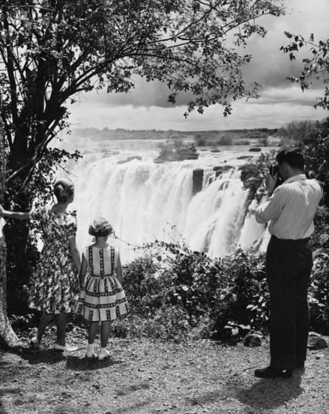1961 Photograph - Zimbabwe Waterfall by S T Darko