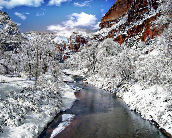 Photograph - Zion Canyon by Anthony Dezenzio
