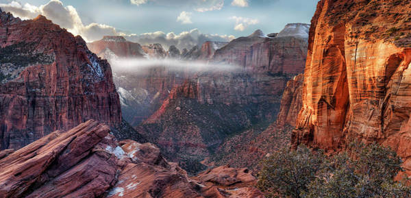 Photograph - Zion Canyon Grandeur by Leland D Howard