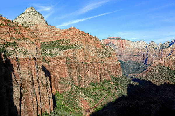 Wall Art - Photograph - Zion Canyon Overlook Trail View by Donna Kennedy