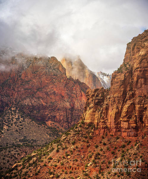 Wall Art - Photograph - Zion East Temple by Mike Reid