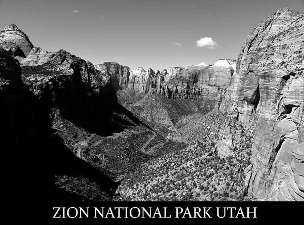 Wall Art - Photograph - Zion Nationa Park Utah by David Lee Thompson