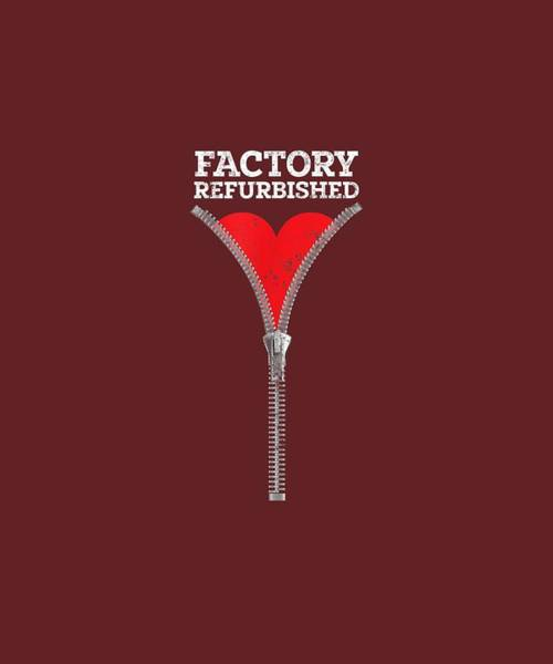 Wall Art - Digital Art - Zipper Club Member Factory Refurbished Heart Surgery by Unique Tees