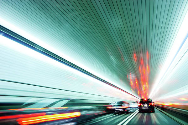 Holland Tunnel Wall Art - Photograph - Zipping Through The Holland Tunnel by Tanja-tiziana, Doublecrossed Photography