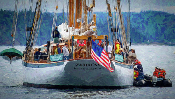 Port Townsend Painting - Zodiac by Mike Penney