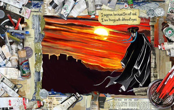Painting - Zolidian Page One by Yom Tov Blumenthal