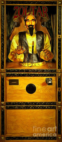 Photograph - Zoltar Speaks Fortune Teller 20181224 Full Size by Wingsdomain Art and Photography