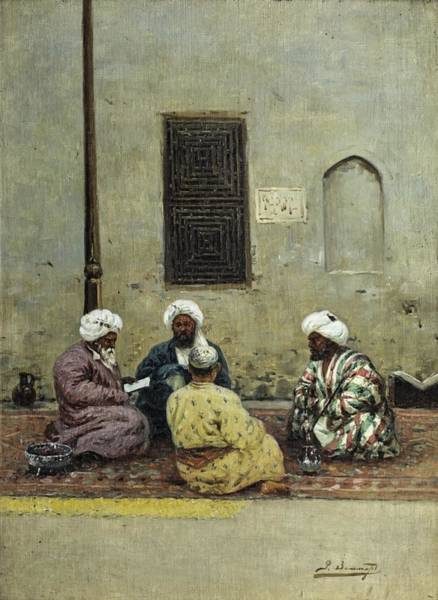 Wall Art - Painting - zommer, richard karlovich - Four Scholars by Celestial Images