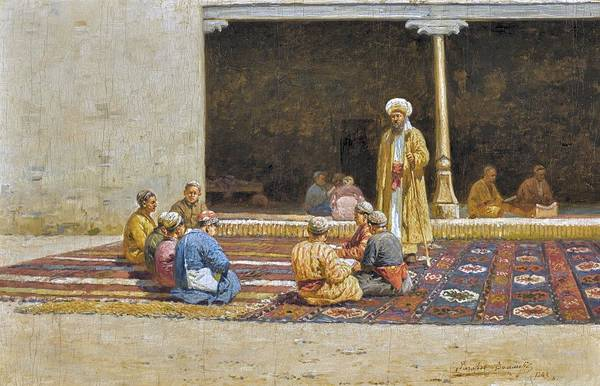 Wall Art - Painting - zommer, richard karlovich - Madrasah by Celestial Images