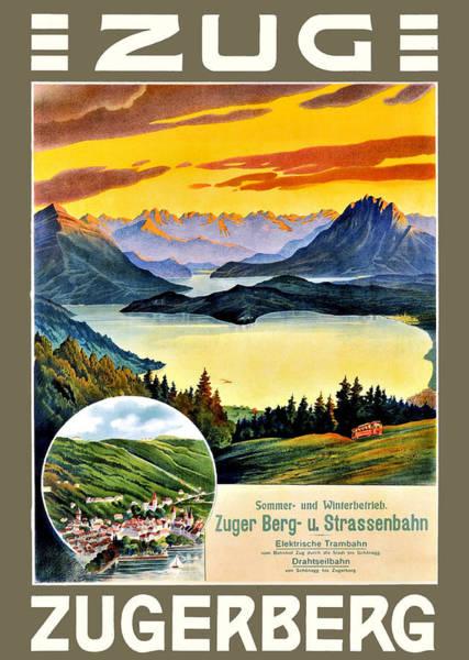 Mountain Lake Digital Art - Zugerbeg by Long Shot