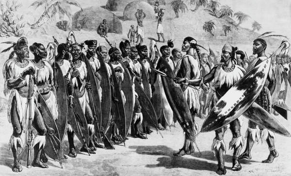 Rifle Photograph - Zulu Warriors by Hulton Archive