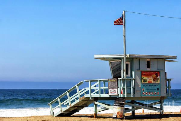 Photograph - Zuma Beach Lifeguard Stand by John Rizzuto