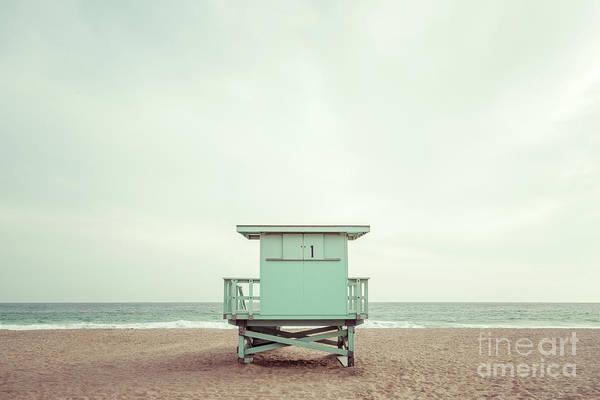 Wall Art - Photograph -  Zuma Beach Malibu California Lifeguard Tower #1 Photo by Paul Velgos